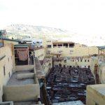 Bőrcserző kádak Fez óvárosában